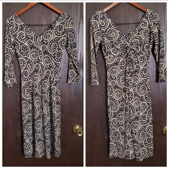 London Style V-neck Dress
